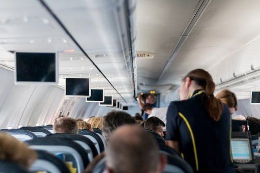 Aircraft, Stewardess, Sit, Screens, Holiday, Travel