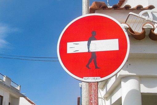 Surf, Street Sign, Summer, Surfboard