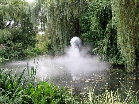 Sculpture, Woman, Pond, Grounds For Sculpture, Hamilton