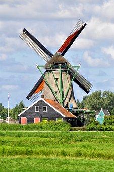 Holland, Windmill, Zaanse Schans