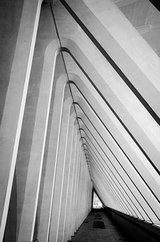 Architecture, Symmetry, Building, Repetition, Lines