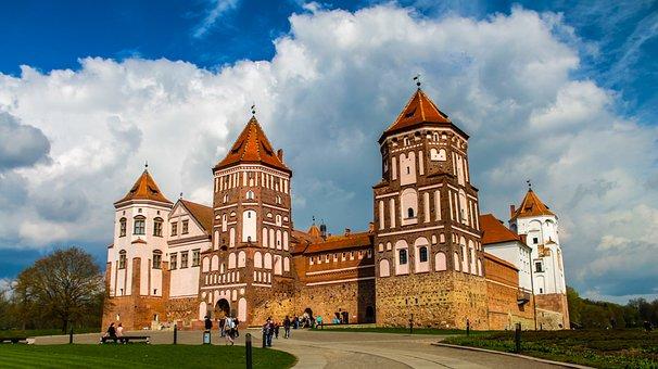 Castle, Belorussian, Belarus, Architecture, Medieval