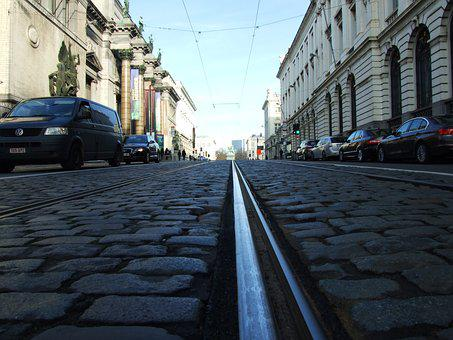 Royal Street, Palace, Building, Architecture, Tram