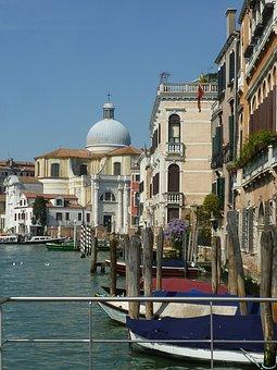 Boat, Gondola, Venetian, Venezia, Europe, Venice