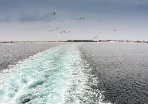 Ferryboat, Thasos, Greece, Greek, Life, Outdoor, Sea