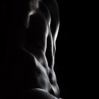 Abs, Nude, Bodyscape, Gym, Gymbunny, Woman, Strong