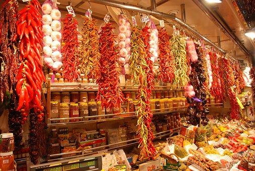 Barcelona, Spain, La Boqueria Food Market, Europe