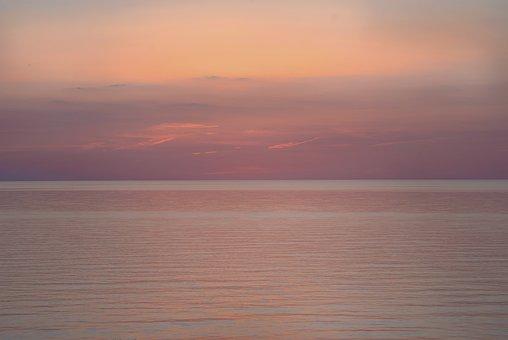 Water, Purple, Orange, Gold, Magenta, Sunset, Lake