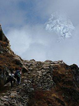 The Himalayas, Makalu, Way, Mountains, The Stones, Hill