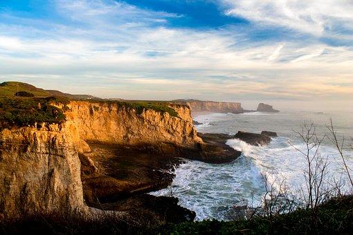 Santa Cruz, California, Shore, Ocean, Santa, Cruz