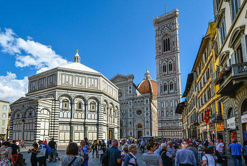 Florence, Duomo, Tower, Baptistry, Bell Tower, Piazza
