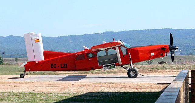Plane, Red, Propellers, Wings, Travel, Aeronautics