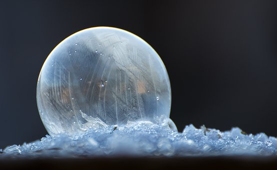 Soap Bubble, Ice, Seifenblase Frozen, Frozen Bubble