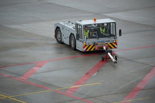 Airplane Tug, Airport, Prior To, Tug