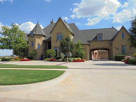 House, Home, East Lake, Oklahoma, Blue Sky