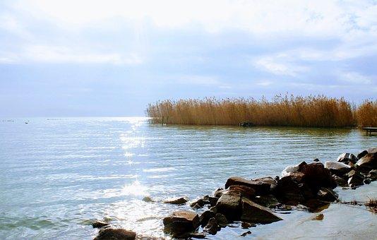 Lake Balaton, Water Surface, Lake, Day S, Nature, Water