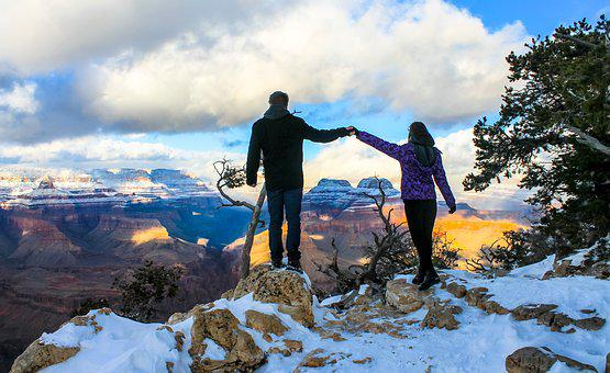 Grand Canyon Winter, Girl, Grand, Canyon, National