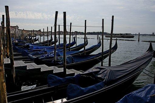 Venezia, Venice, Summer, Gondola, Italy