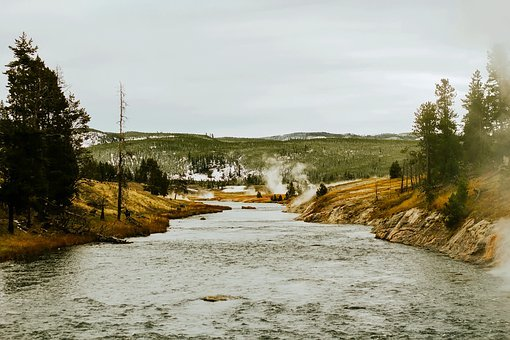 Yellowstone, National Park, Wyoming, Landscape, River