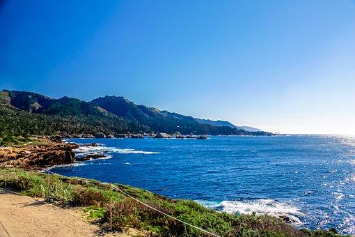 Big Sure, California, Nature, Ocean, Beach, Big, Water