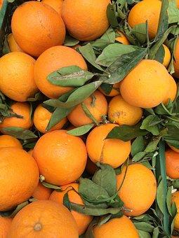 Oranges, Market Stall, Orange, Nature