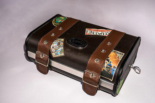 Portable Radio, Luggage, Leather, Old Suitcase, Antique