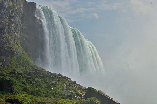 Niagara Falls, Water Masses, Spray, Murmur, Waterfall