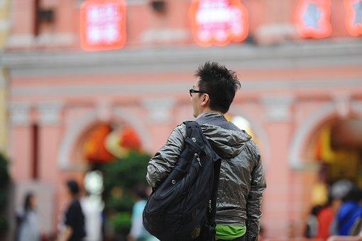 Tourism, Man, Macau, Long Shots, On The Road