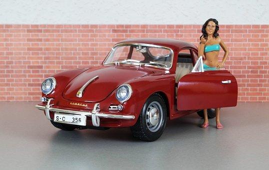 Model Car, Porsche, Porsche 356, Sporty, Red, Vehicle