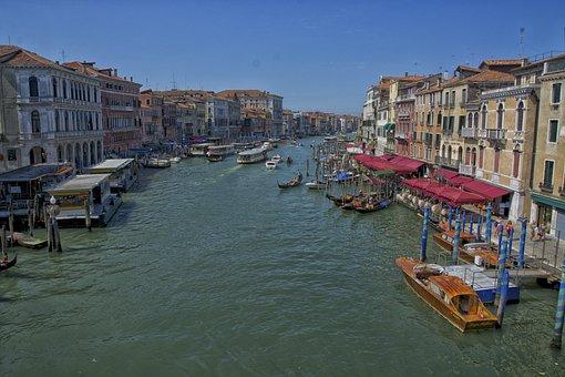 Canale Grande, Venice, Venezia, Waterway, Gondolas