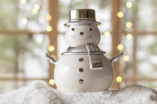 Snowman, Snow, Winter, Christmas, Season, White