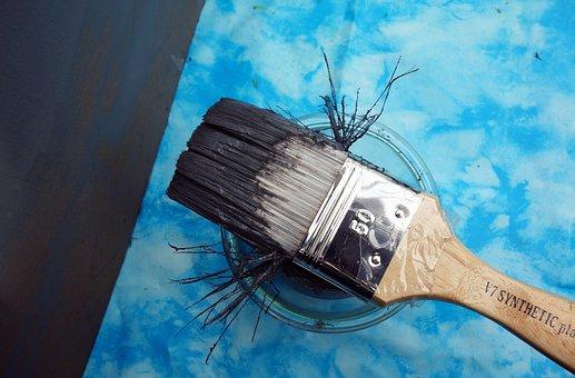 Brush, Color, Painting, Delete, Paint, Grey, Bristles