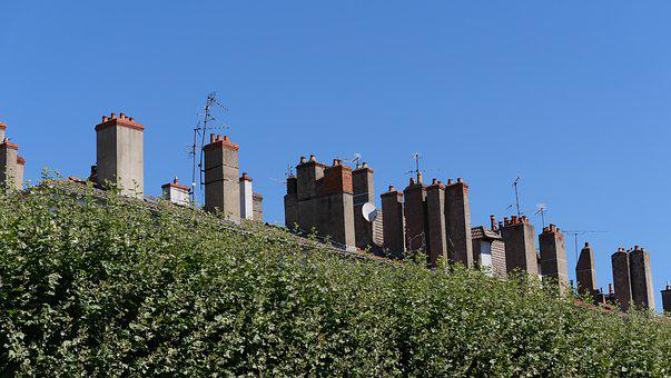 Chimneys, Roofs, Roof, Building, House Roof