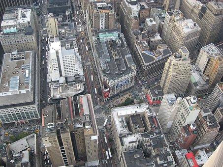 New York, Ny, City, Manhattan, New York Skyline, Urban