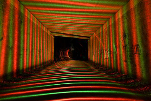 Light Painting, Color, Colorful, Underpass, Structure