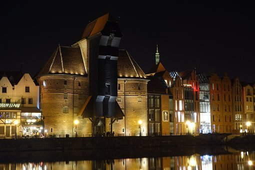 Gdańsk, Motlawa, Crane, The Museum, The Old Town