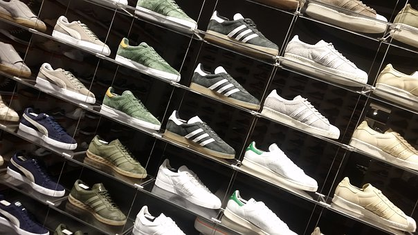Shoes, Display, Sneakers, Leather, Brand Shoes
