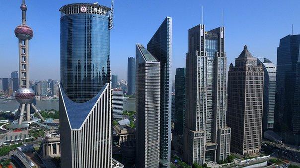 China, Shanghai, Lu Jia Zui, Financial