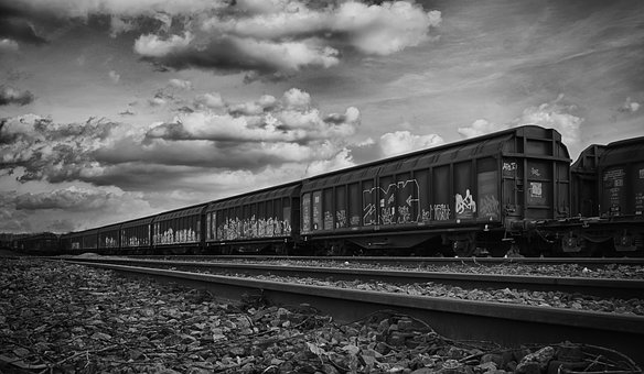 Railway Station, Freight Train, Train, Railway