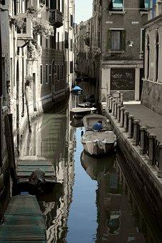 Channel, Venice, Homes, Gondola, Waterways