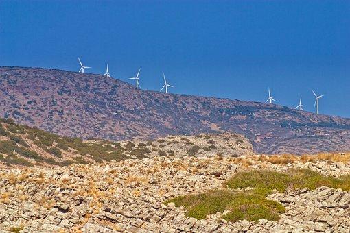 Horizon, Hill, Landscape, Sky, Wind, Turbine, Energy