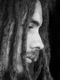 Guy, Dreadlocks, Man, Sad, Black, White, Male, Person
