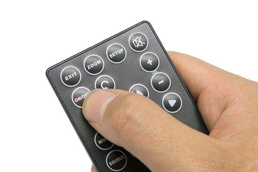 Remote Control Isolated, Cut Out, Hand, Tv