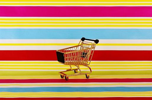 Shopping Cart, Gold, Shopping, Shop, Sale, Buy