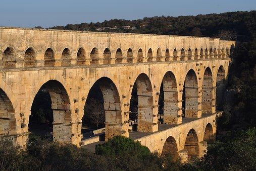 Monument, Pont Du Gard, Aqueduct, Heritage