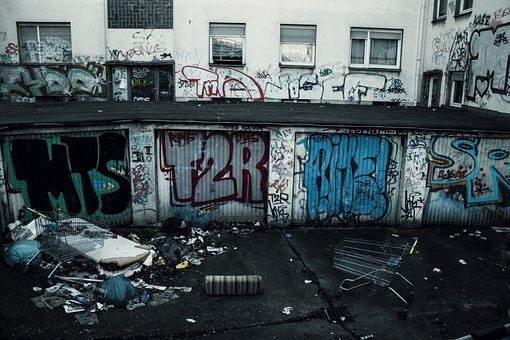 Backyard, Garbage, Graffiti, Dirty, Still, Break Up