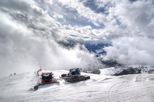 Snow, Bulldozer, Grooming, Winter, Tractor, Machine