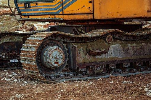 Caterpillar, Excavator, Construction, Machinery