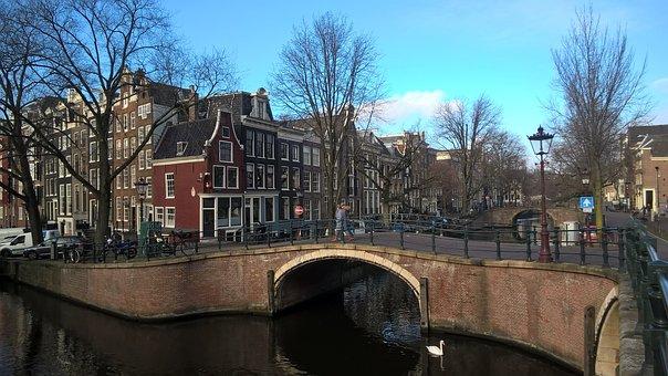 Amsterdam, Netherlands, Canal, Dutch, Holland