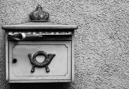 Mailbox, Old, Post, Letter Boxes, Metal, Post Mail Box
